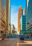 Straßen von im Stadtzentrum gelegenem Detroit lizenzfreie stockfotos