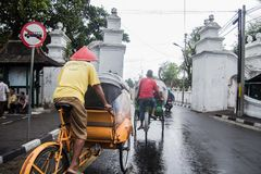 Straßen von Indonesien-Stadt Yogyakarta Stockbild