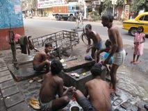 Straßen von Kolkata Stockfotos