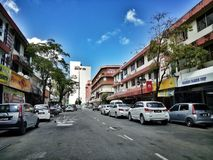 Straßen von Labuan Stockfoto