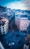 Straßen von Lausanne-Stadt lizenzfreie stockfotos