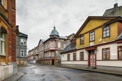 Straßen von Liepaja, Lettland lizenzfreies stockbild