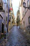 Straßen von Lissabon lizenzfreie stockfotos