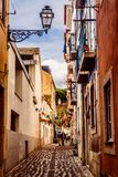 Straßen von Lissabon, Portugal lizenzfreie stockbilder