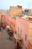 Straßen von Marrakesch Stockbild