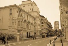 Straßen von Monte Carlo stockbild