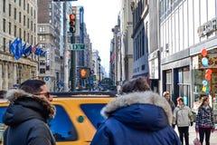 Straßen von NY stockfoto