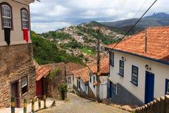 Straßen von Ouro Preto, Brasilien lizenzfreie stockfotografie