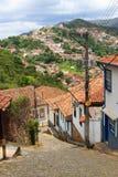 Straßen von Ouro Preto, Brasilien. Vertikal stockfotografie