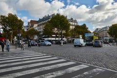 Straßen von Paris stockfotos