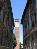 Straßen von Pavia Stockbild