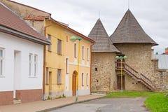 Straßen von Podolínec-Stadt lizenzfreies stockfoto