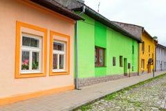 Straßen von Podolínec-Stadt stockbilder