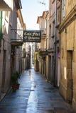 Straßen von Pontevedra, Galizien Stockfotografie