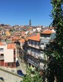Straßen von Porto Portugal im Sommer stockfotografie