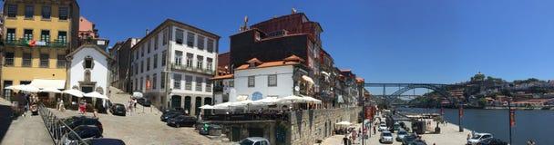 Straßen von Porto Portugal im Sommer stockbild