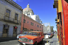 Straßen von Puebla-Stadt, Mexiko Stockfotos