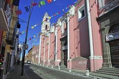 Straßen von Puebla-Stadt, Mexiko Lizenzfreies Stockfoto