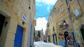 Straßen von Rabat, Malta stock video