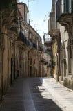 Straßen von Ragusa Stockbild