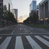 Straßen von Rotterdam stockbild