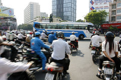 Straßen von Saigon Lizenzfreies Stockfoto