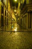 Straßen von Sevilla bis zum Nacht Stockbild