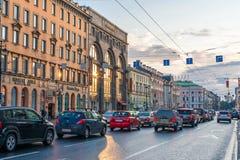 Straßen von St Petersburg Lizenzfreie Stockfotografie