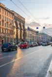 Straßen von St Petersburg Lizenzfreie Stockfotos