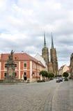 Straßen von Tumski des Wroclaws Insel Stockfotos