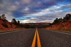 Straßen von Utah Stockbild