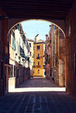 Straßen von Venedig Stockbild