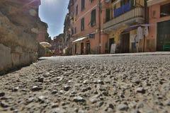 Straßen von Vernazza Italien Stockbild