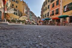 Straßen von Vernazza Italien Stockfotografie