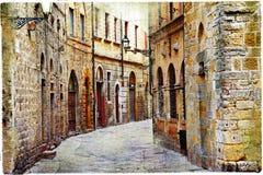 Straßen von Volterra Lizenzfreie Stockbilder