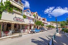 Straßen von Zante-Stadt auf Zakynthos-Insel Stockfotografie