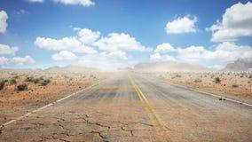 Straßen-Wüste stock footage