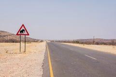 Straßen-Warnzeichen der wild lebenden Tiere Lizenzfreie Stockfotografie