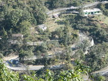 Straßen zu Mussoorie Stockfoto