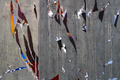 Straßenanschlagtafel, abstrakter Hintergrund Lizenzfreies Stockfoto