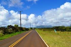Straßenansicht über Hawaii Lizenzfreie Stockfotografie