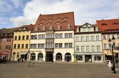 Straßenansicht über Jakobsstrasse in Naumburg lizenzfreie stockbilder