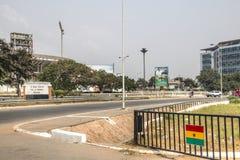 Straßenansicht in Accra, Ghana Lizenzfreie Stockfotografie