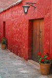 Straßenansicht in Arequipa, Peru Stockfoto