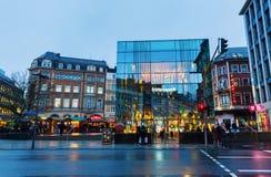 Straßenansicht bei Peter Street in Aachen, Deutschland Stockfotos