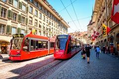 Straßenansicht in Bern-Stadt Stockfotos