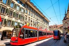 Straßenansicht in Bern-Stadt Lizenzfreie Stockfotografie