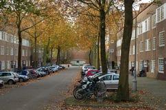 Straßenansicht in das Nieuwe Pijp Stockbild