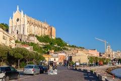 Straßenansicht der alten Stadt von Gaeta, Italien Stockfoto
