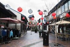 Straßenansicht der Porzellanstadt in Los Angeles, USA lizenzfreie stockfotos